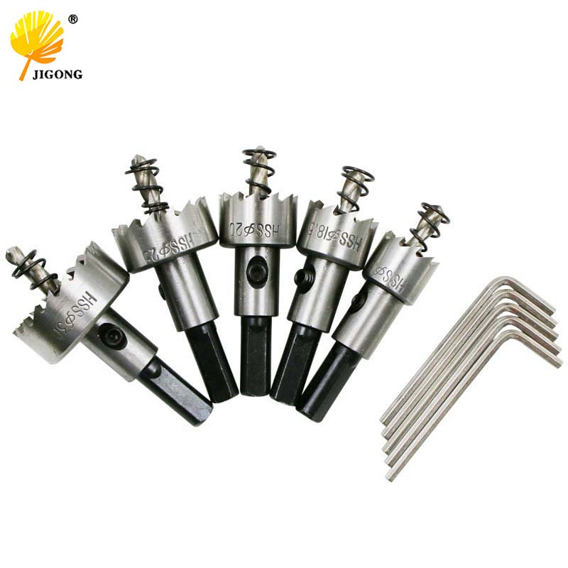 10pcs/ set Carbide Tip HSS Drills Bit Hole Saw Set Stainless Steel Metal Alloy 16/18.5/20/25/30mm 10pcs set carbide tip hss drills bit hole saw set stainless steel metal alloy 15 18 20 22 30mm