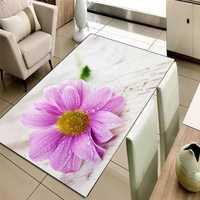 Sonst Creme Boden Rosa Gelb Daisy Blumen 3d Print Non Slip Mikrofaser Wohnzimmer Dekorative Moderne Waschbar Bereich Teppich Matte