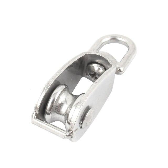 UXCELL 15Mm Silver Tone Stainless Steel Single Sheave Swivel Eye ...