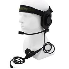 HD01 Z Tactical Bowman Elite II Radio Headset earpiece with U94 Style PTT for Kenwood Baofeng Portable Walkie Talkie 2 Pin