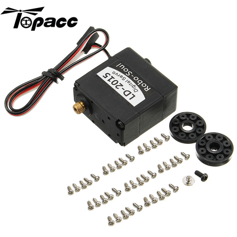 Hot New LD-2015 180 Degree 15KG Large Torque Metal Gear Biaxial Digital Servo Servos For Robot Accessories Spare parts jx servo pdi 6115 mg kg 15 large torque torque metal gear steering gear digital hollow cup standards