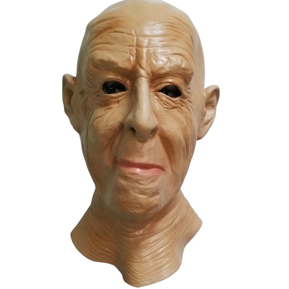 Realistic Old Man Mask Male Disguise Fancy Dress Head Rubber Adult Party Masks Masquerade Cosplay Props