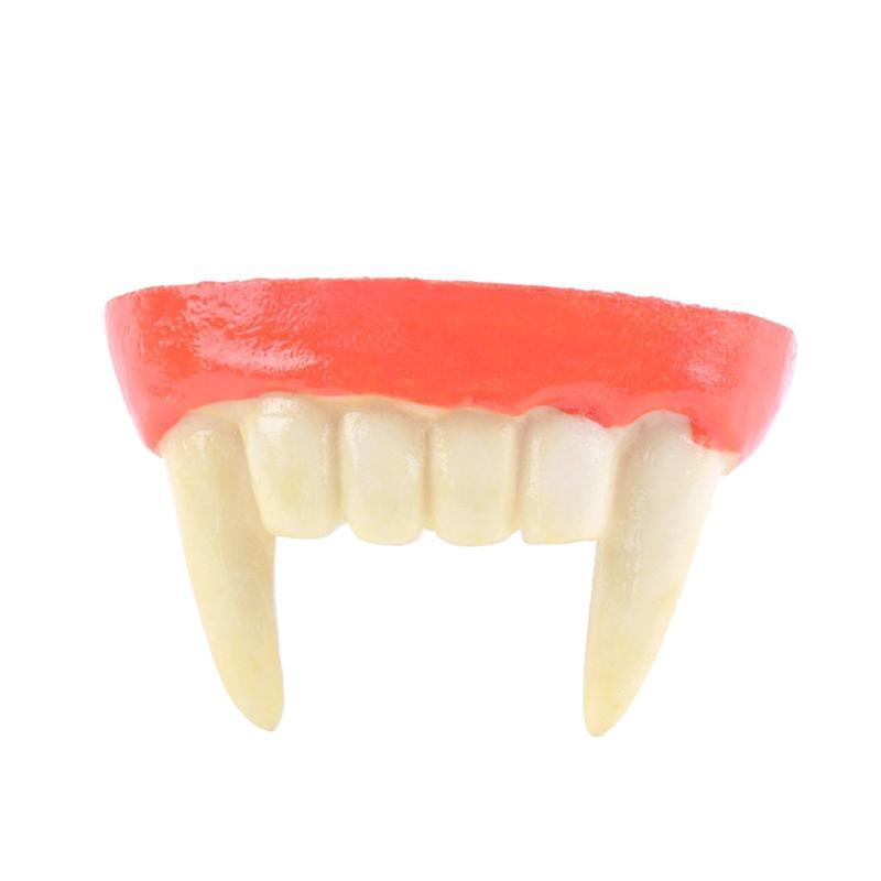 Vampire Fangs Teeth with Adhesive Halloween Party Cosplay Props White Horror