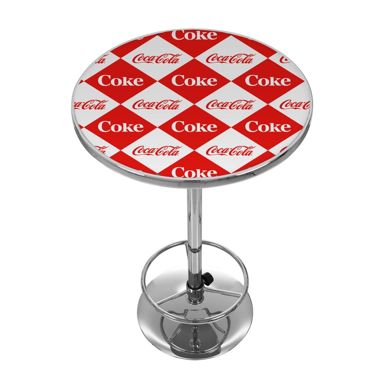 Checker Coca Cola 42 Inch Pub Table