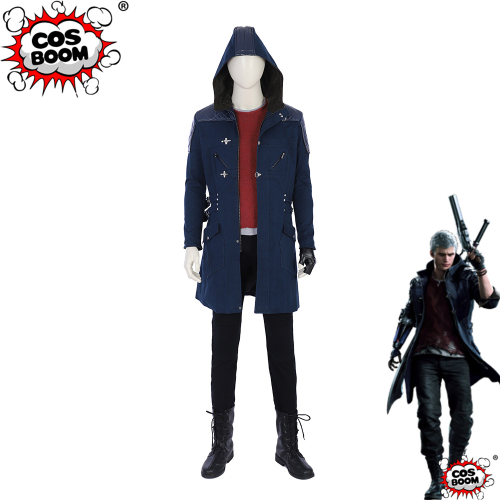 COSBOOM Devil May Cry 5 Nero Cosplay Costume Adult Halloween Carnival Party Game Devil May Cry Nero Outfit Cosplay Costume