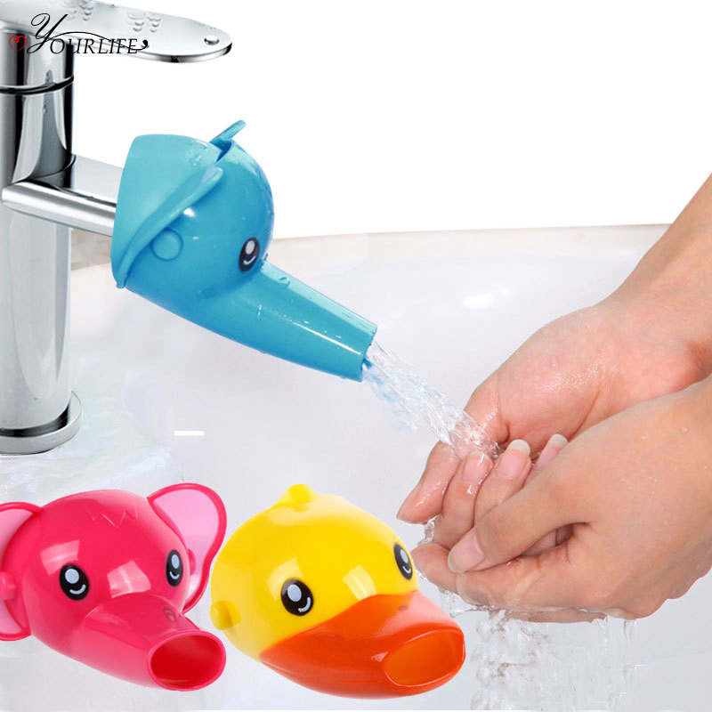 OYOURLIFE 1pc Cute Cartoon Bathroom Sink Faucet Extender For Kid Children Washing Hands Accessories For Bathroom Set