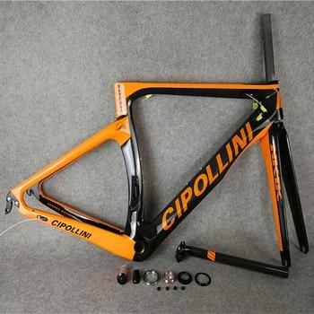T1000 3 K/1 K cuadro de bicicleta arrowter naranja-negro Fluo Cipollini NK1K Marco de bicicleta de carretera de carbono con BB68/BB30 mate/brillante