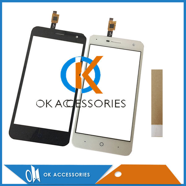 zte warranty - 100% Guarantee Black White Color 5 Inch For ZTE Blade A465 L4 Pro Touch Screen Glass Front Glass Sensor Digitizer With Tape