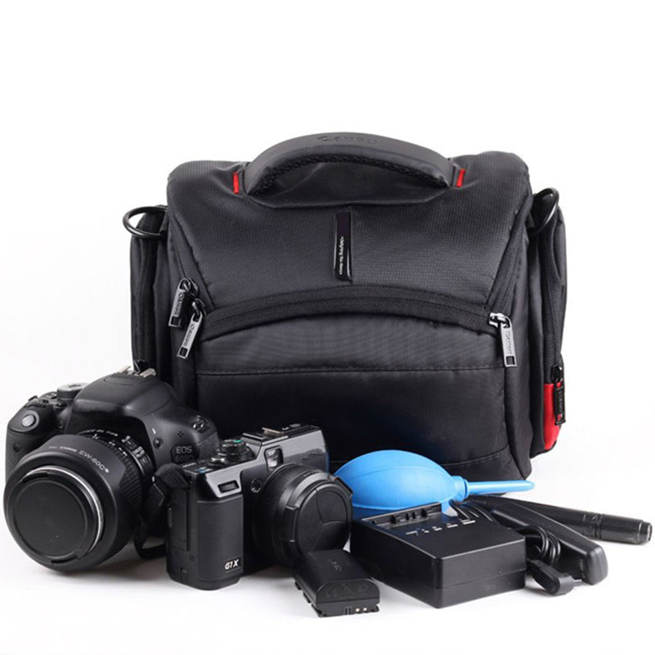 DSLR Waterproof Shoulder Bag Case For Canon EOS 7D2 1300D 1200D 760D 750D 77D 6D 7D 5D Mark II IV III 600D 700D 1100D Camera Bag huwang dslr camera bag case for canon eos 1300d 5d 6d 7d ii iii 800d 77d 750d 60d nikon d3400 d5300 sony alpha a7 photo backpack