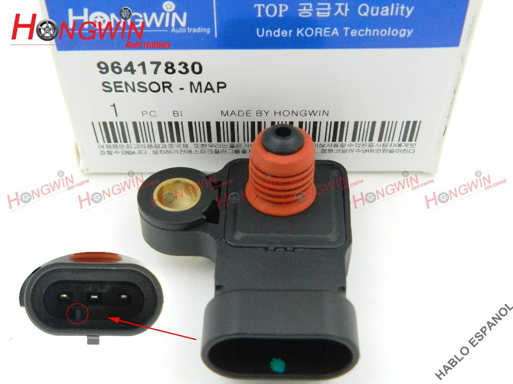 Genuine No.:96417830 Manifold Absolute Pressure MAP Sensor Fits Chevrolet Aveo Lacetti Nubira Optra Daewoo Nubira Holden25484082(China)