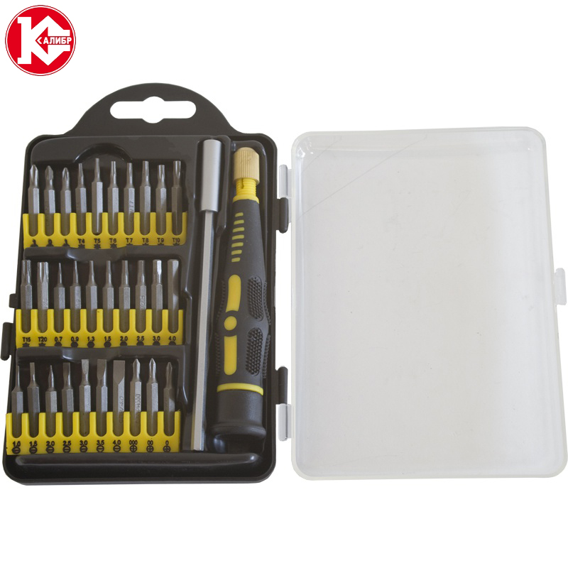 цена на Multi-function Screwdrivers Kit Kalibr NSO-32 Repairing Tools Sets Hand Tools For any suitable work