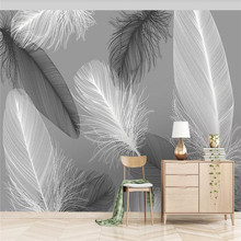 Original modern Nordic feather wall professional production mural wholesale wallpaper poster photo