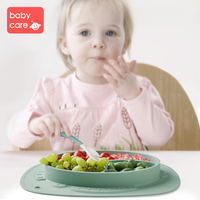 BabyCare Baby Silicone Plate Tableware Infant Food Container Cup Suction Bowl Kids Food Tray Children Placemat Baby Feeding Dish