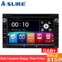 A Sure 2 Din Car Auto Radio DVD Player GPS Navigation For Volkswagen VW PASSAT B5 JETTA BORA TRANSPORTER T5 GOLF 4 SHARAN SEAT