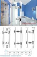 Premintehdw ABS Plastic Glass Door Knob Pull Handle Commercial Shop Entrance