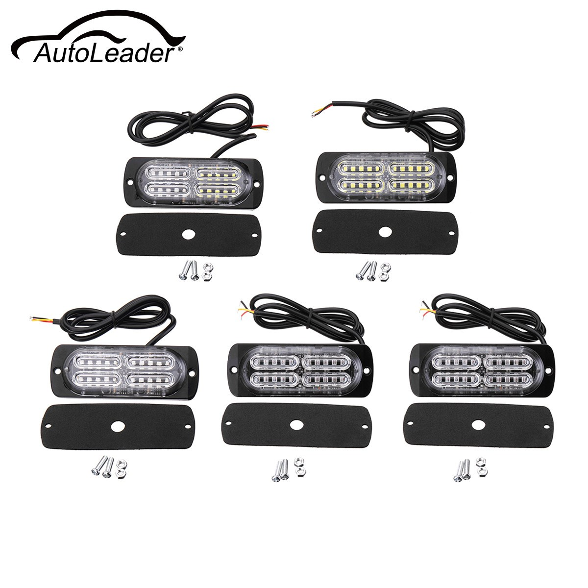 12-24V 20LED Car Truck Trailer Side Marker Light Waterproof Lorry Buses Indicated Lights Rear Lamp Five Color Universal