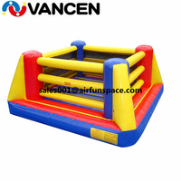 5.5*5.5*2.5m cheap price inflatable bounce boxing sport games PVC tarpaulin inflatable boxing ring gladiator game for kids