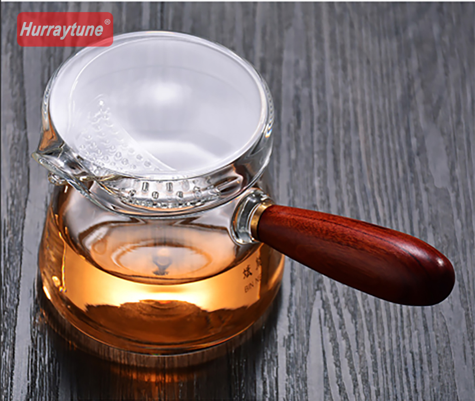 2018 New pattern Side heat resistant glass teapot filter tea brewing tea small flower teapot in Tea Infusers from Home Garden