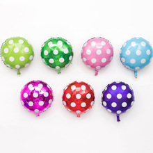 4PCS 18″ Round Wave Point Foil Balloons Helium Ballons Matcha Vintage Globos for Zoo Party Wedding Party Balloons Decoration