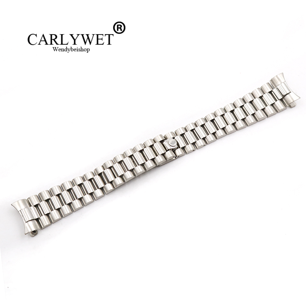 CARLYWET 20mm Wholesale Silver Hollow Curved End Screw Links 316L Stainless Steel Replacem Band Strap Old Style Jubilee Bracelet