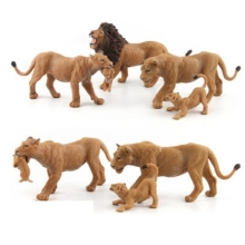 Simulation forest Animal World Zoo animal model toys Figure Action Toy Lovely PVC Lion For Kids