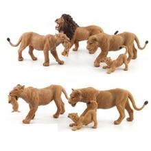 Simulation forest Animal World Zoo animal model toys Figure Action Toy Simulation Animal Lovely PVC Lion Toy For Kids цена в Москве и Питере