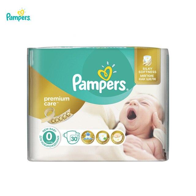 Подгузники Pampers Premium Care 1-2,5 кг, размер 0, 30 шт.