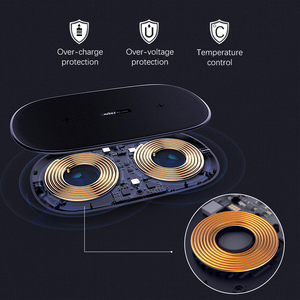 Image 2 - NILLKIN 2 в 1 Qi быстро Беспроводной Зарядное устройство для iPhone X XS Max/XS/8/8 Plus для samsung Galaxy S8/Note 8/S9 Беспроводной зарядного устройства