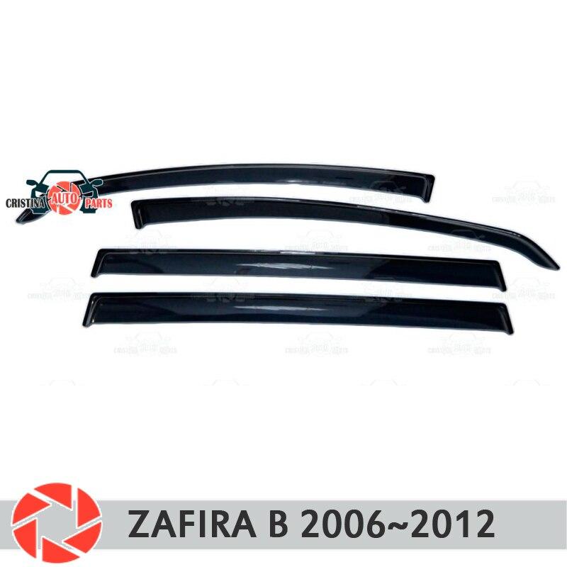 Deflector janela para Opel Zafira B 2005-2012 chuva defletor sujeira proteção styling acessórios de decoração do carro de moldagem