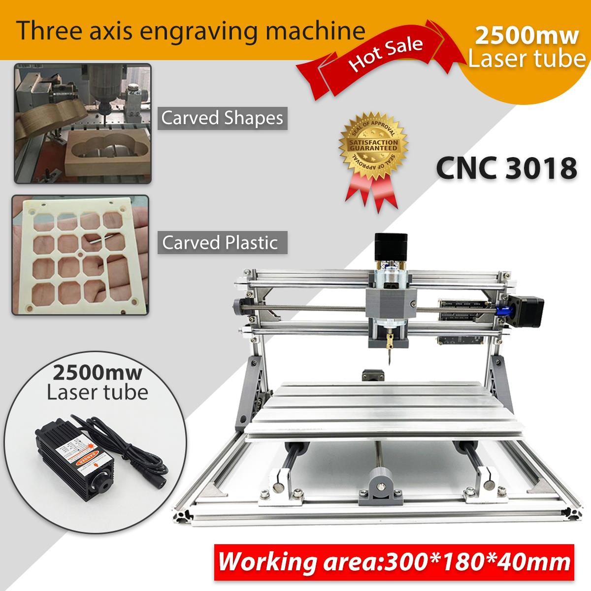 CNC DIY 3018 Wood Router KIt 3 Axis pcb Milling Machine Engraving Machine 2500mw diy cnc router milling machine 2020 frame kit wood engraving cutting