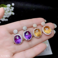 Gem size:9x9mm Material: 925 sterling silver + natural gemstones. Support professional identification