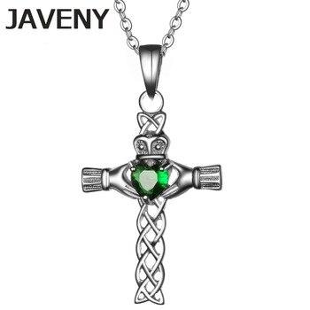 925 Sterling Silver Jewelry CZ Irish Keltic Knot Claddagh Cross Womens Wedding Bridal Pendant Necklaces 10pcs Lot Wholesale