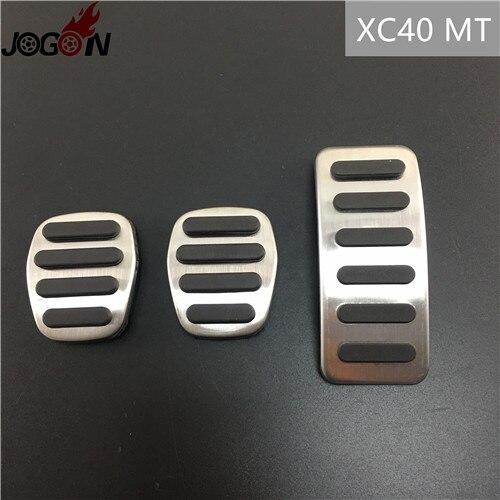 Для Volvo XC60 S60 V60 S80 XC90 S90 V90 XC40 V40 S40 C30 газовый топливный ускоритель сцепления педаль тормоза Накладка на MT - Название цвета: XC40 MT