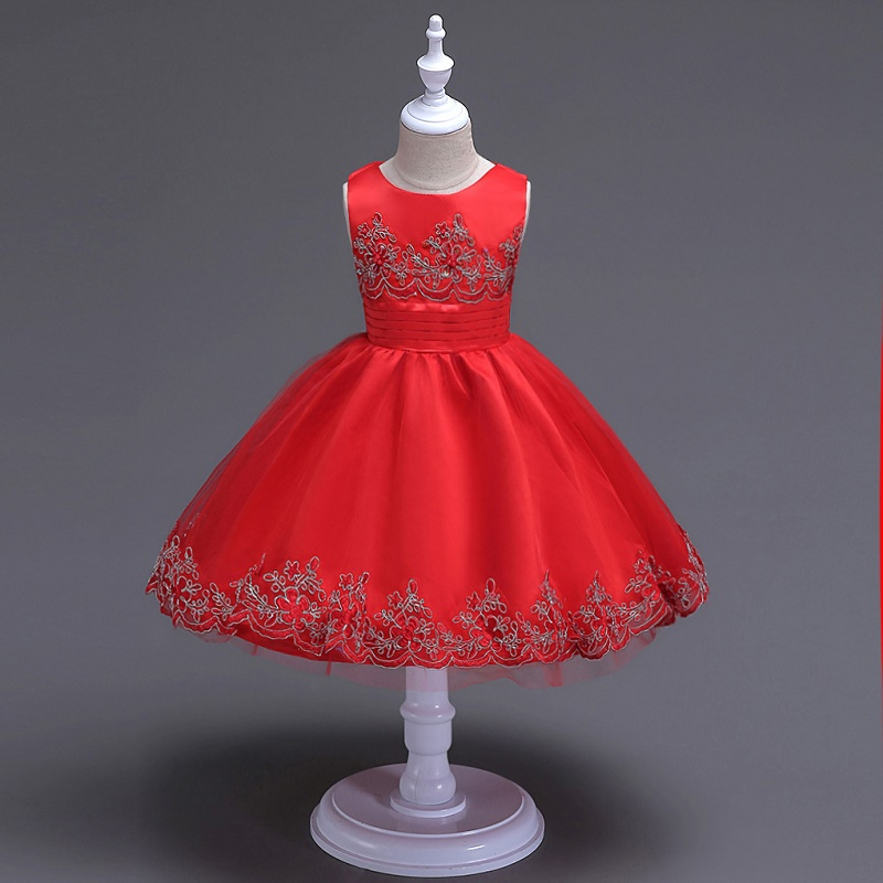 цена на 2017 Kids Wedding Summer Party Dresses For Girls Birthday Princess Costume Children Toddler Elegant Vestido 3 6 8 10 12 years