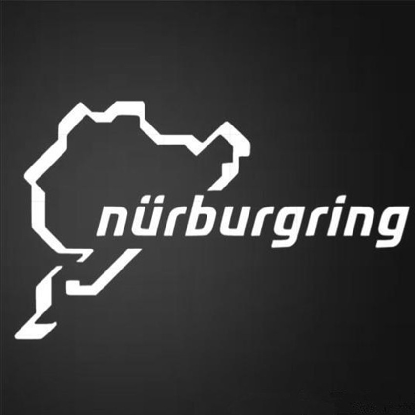 New Nurburgring Car Racing Road Funny Van Window Bumper For Jdm Vw Vag Euro Vinyl Decal Reflective Sticker Accessories Styling цены