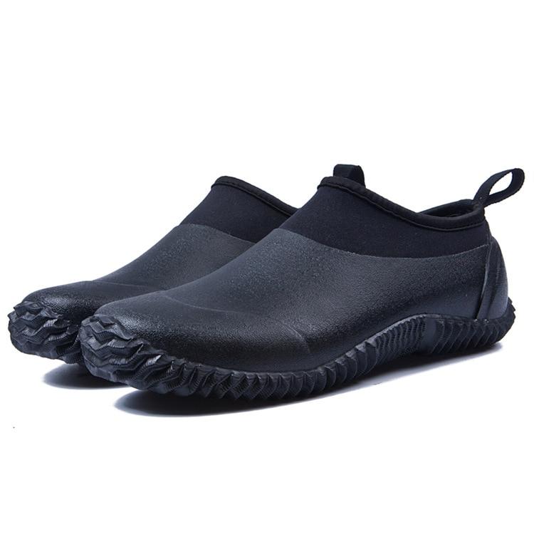 Autumn Men Rainboots Short Boots Rubber Shoes Spring Unisex Flats Waterproof Platforms Water Shoes Masculino Botas Ankle Femme