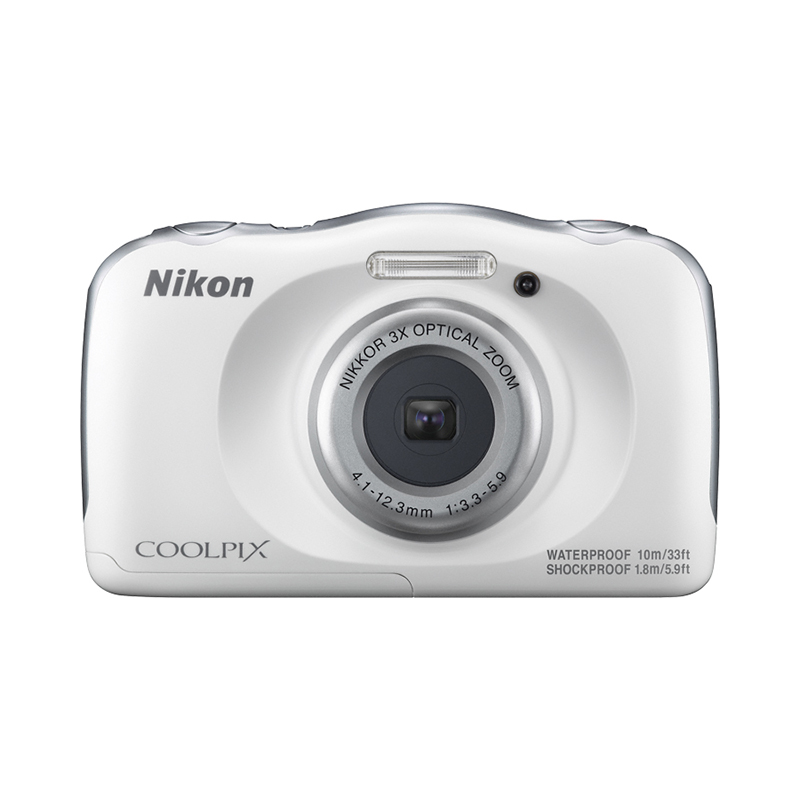 Point & Shoot Camera Nikon COOLPIX W100 White фотоаппарат nikon coolpix w100 marine backpack kit