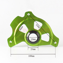 RACING PARTS CNC Billet Front Brake Disc Cover Protector Plastic Rotor Guard For KLX KX250F KX450F 2006-2015 DIRT BIKE