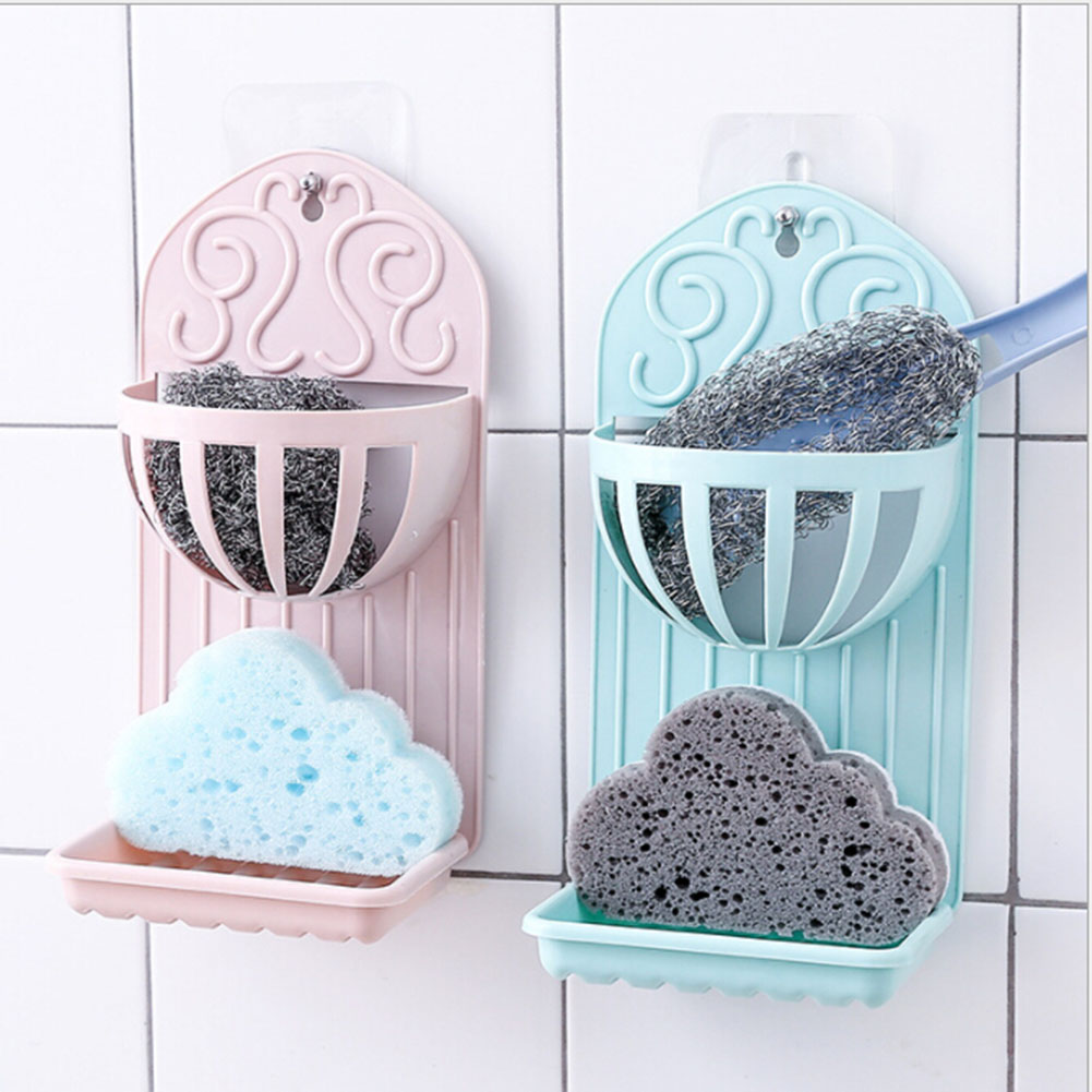 1PC Double Layer Cup Sink Shelf Soap Sponge Drain Rack Kitchen Storage Tool Bathroom Hanging Strainer Organizer Holder Bag Tool