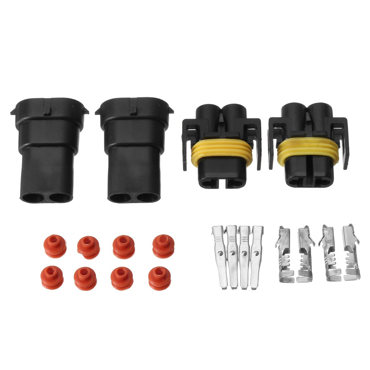 2Pair H8 H9 H11 880 881 Female And Male Adapter Harness Car Auto Wire Connectors For HID Xenon Light Socket Plug car light accessories amp d2s d2c d2r hid xenon cable adaptor socket for d2 d4 d4s d4r xenon hid headlight relay wiring harness