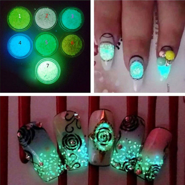 3d nail art acrylic tips decoration diy glow in the dark glitter 3d nail art acrylic tips decoration diy glow in the dark glitter luminous sand prinsesfo Images