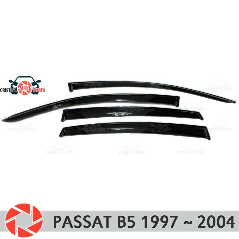 Deflector janela para Volkswagen Passat B5 1997-2005 chuva defletor sujeira proteção styling acessórios de decoração do carro de moldagem
