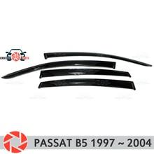 Окна отражатель для Volkswagen Passat B5 1997-2005 дождь дефлектор грязи Защитная оклейка автомобилей украшения аксессуары для литья под давлением