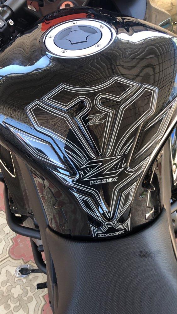 Color : A Xuefeng 3D-Kohlefaser-Motorrad-Kraftstoff-Tank-Pad-Schutz-Aufkleber f/ür Kawasaki ER-6N
