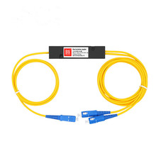 1*2 Optical Fiber Splitter 1/2 FTTH Cable Branching Device Single Mode SC/UPC Interface Telecom PLC Cassette