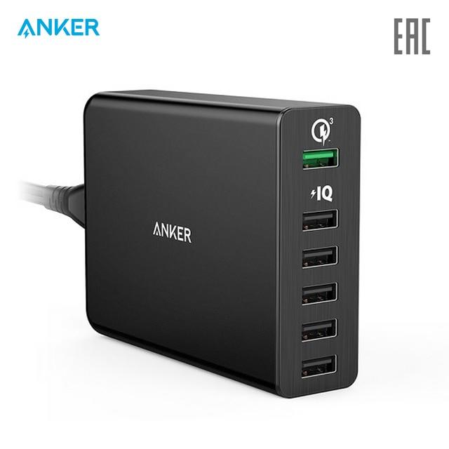 Сетевое зарядное устройство Anker PowerPort+ 6 with Quick Charge 3.0