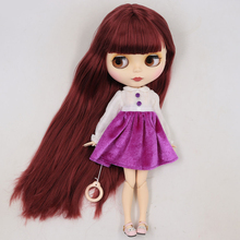 Factory Neo Blythe Doll Wine Red Hair Jointed Body 30cm