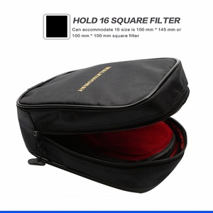 Image 2 - Walking Way 16 slot camera bag case Waterproof filter wallet Storage for Circular 100mm 150mm square filter Pouch CPL UV ND