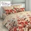 100% satén de algodón. softcotton flores ropa de cama de lujo de Reina rey tamaño edredón de cama ropa de cama kit de cuadros