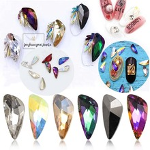 Nail Art Crystals 5*11mm Angle Wing Fancy Rhinestones For Manicures 20pcs/lot Charms Decoration DIY Manicure Stick on Nails